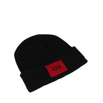 424 90017360999 Men's Black Wool Hat