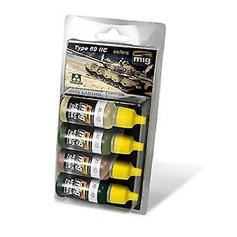 Mig Ammo Type 69 II Colors Acrylic Paint Set