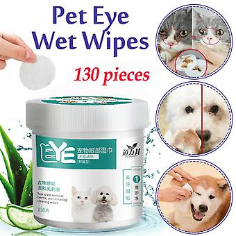 Pet Eye Wet Wipes Dog Cat Pet Cleaning Wipes Grooming Tear Stain Remover تنظيف منشفة مبللة