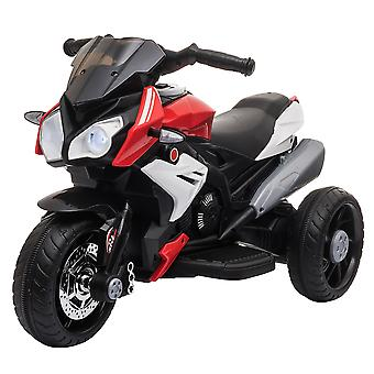 HOMCOM Kids 6V Electric Ride On Motorcycle Vehicle w/ Lights Music Horn 3 Wheel Outdoor Play Toy for 3 - 6 Years Red