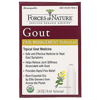 Forces of Nature, Gout Pain Management, Rollerball, 0.14 oz (4 ml)