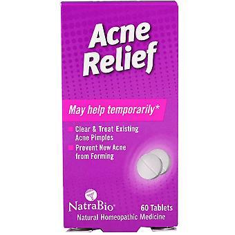 NatraBio, Acne Relief, 60 Tablets
