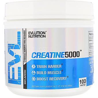 EVLution Nutrition, CREATINE5000, Unflavored, 17.6 oz (500 g)