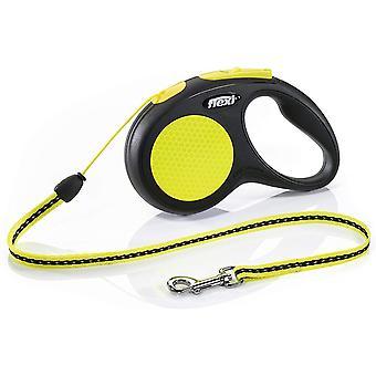 Flexi Neon 5m Cord - Small - Black/Neon