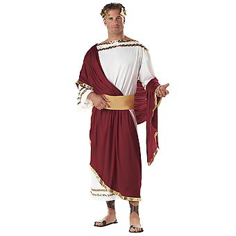 Julius Caesar Deluxe Greek Roman King Emperor Toga Men Costume One Size