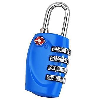 TRIXES 4-Dial TSA kombinasjon hengelås bagasjen kofferter og Travel lys blå
