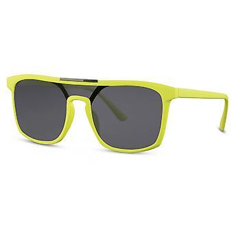 Solglasögon unisex rektangulär katt. 3 gul/rök