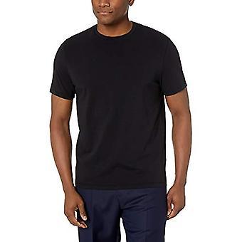 BUTTONED DOWN Men's Short-Sleeve Crew Neck Supima Cotton Stretch T-Shirt, Bla...