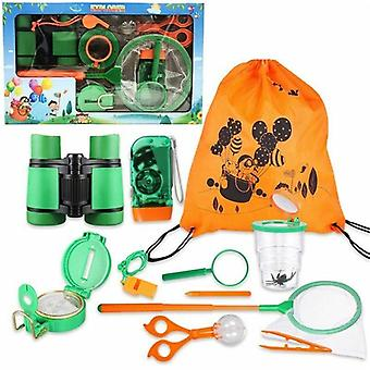11pcs Outdoor Explorer Kit Gifts Birthday Christmas Present Kid Set- Outdoor Adventure Insect Capture Baby Toys
