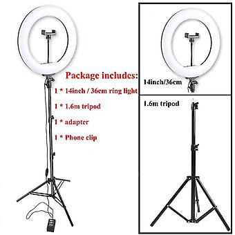 Led Ring Light Photo Studio Camera Light Photography Dimmable Video Light For Youtube Makeup Selfie With Tripod Phone Holder