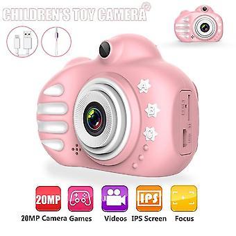 Kids Camera Cute Flash-20mp Hd  Mini-digital-camera For Children Toy Camera 2.4 Inch Ips Screen