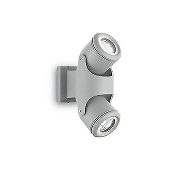 Ihanteellinen Lux Xeno - 2 vaalea ulkoseinä vaaleanharmaa IP44, GU10