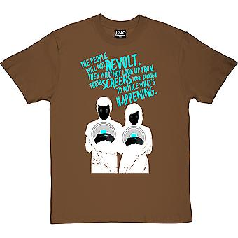 The People Will Not Revolt Chestnut Men's T-Shirt