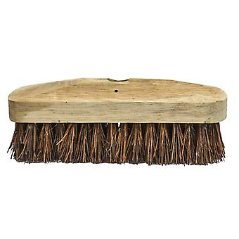 Faithfull Deck Scrub Stiff Broom Head 225mm (9in) FAIBRBASS9