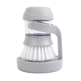 9x12.5cm Automatic Liquid Adding Wash Pot Brush Gray