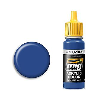 Ammo by Mig Acrylic Paint - A.MIG-0103 Medium Blue (17ml)