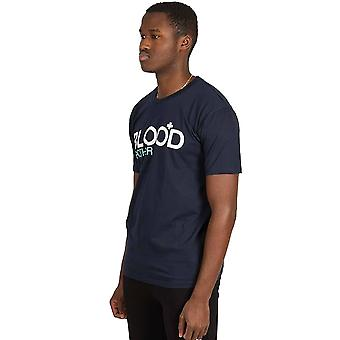 Blood Brother Trademark Logo T-Shirt - Navy