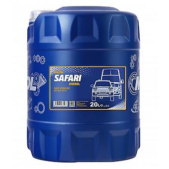 Mannol 20L Safari SAE 20W-50 Classic Cars Mineral Engine Oil API SL/CF