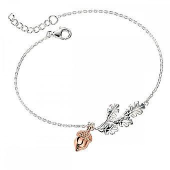 Elements Silver Elements Acorn Bracelet With Rose Gold B4583