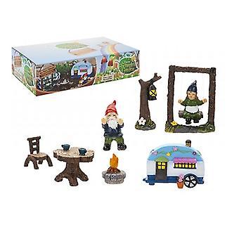 The Faries Enchanted Garden Secret Fairy Garden Gnome And Caravan Set