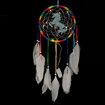 Decorative LED Rainbow Unicorn Dreamcatcher X 1 Pack