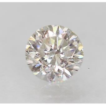 معتمد 0.50 قيراط D VS2 جولة رائعة المحسنة الطبيعية فضفاضة الماس 4.86mm