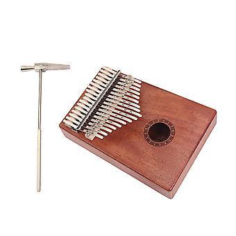 17 Key Mahogany Metal Kalimba Finger Thumb Piano Craft