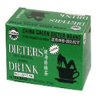 Tio Lees Teas Dieters Chá China Verde, 12 Sacos