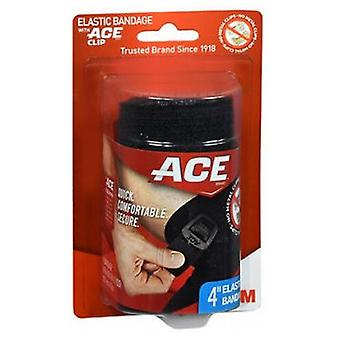 3M Ace Black Elastic Bandage, 4'' 1 Each