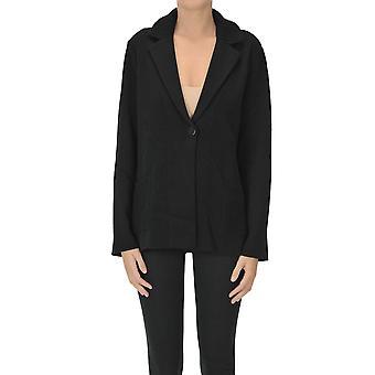Anneclaire Ezgl112034 Women's Black Wool Cardigan