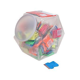 Personna Neon Plastic Mini Scraper Jar of 100 Single Blades PSA660442CJA