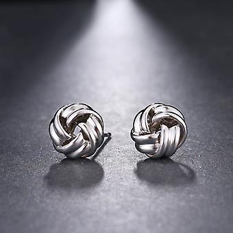 Gümüş Vintage Düğüm Tasarım Stud Küpe
