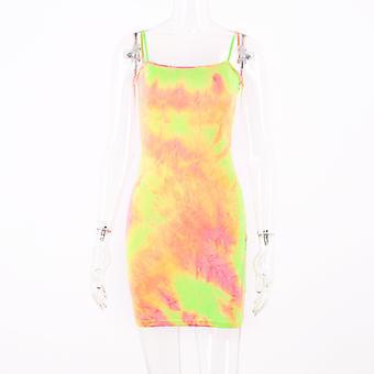 Fashion Ladies Tie Dye Sling Dress