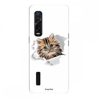 Hull For Oppo Find X2 Pro In Silicone Soft 1 Mm, Cute Cat