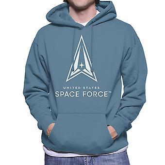 U.S. Space Force Dark Logo Men's Hooded Sweatshirt