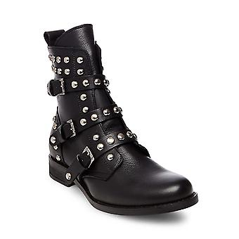 Steve Madden Womens Spunky Leather Closed Toe Ankle Fashion Boots
