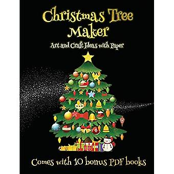 Art and Craft Ideas with Paper (Christmas Tree Maker)