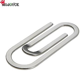 Steel Steel Money Clips Metal Multi-function Men Paper Clip Holder (argent)