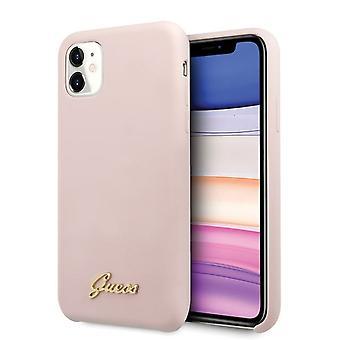 כנראה רך מקרה iPhone 11 ורוד קשיח פגז סיליקון הבציר זהב לוגו כיסוי מקרה המגן מקרה