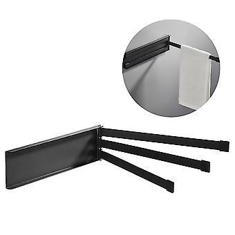 Folding towel bar and rotatable towel rack