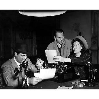 His Girl Friday Cary Grant Ralph Bellamy Rosalind Russell 1940 Photo Print