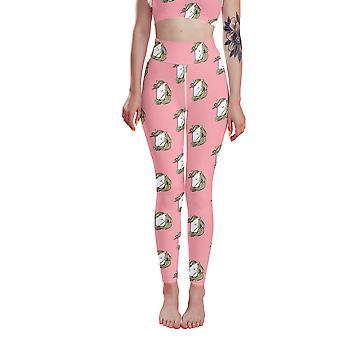 Leggings de unicornio rosa de cintura alta