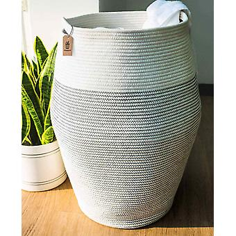 Goodpick Laundry Hamper | Woven Cotton Rope Dirty Clothes Hamper Tall kids Curver Laundry Basket