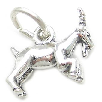 Goat Capricorn Sterling Silver Zodiac Charm .925 X 1 Goats Zodiacs Charms - 3710