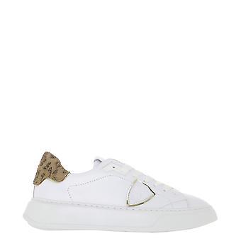 Philippe Modelo Btldva01 Mujer's Zapatillas de Cuero Blanco