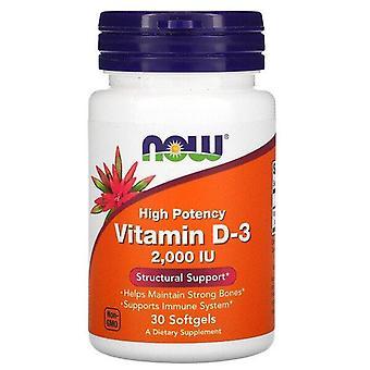 Ora Alimenti, Alta Potenza Vitamina D-3, 50 mcg (2.000 UI), 30 Softgel