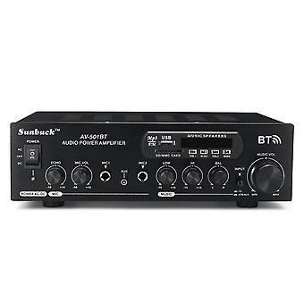 1200W 110V/220V bluetooth Dual Channel Karaoke Mic Input Digital Reverb Home Stereo Amplifier Suppor