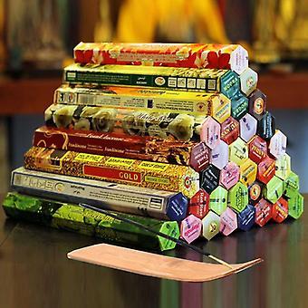 Stick med røgelse Plate Autentisk Premium flere varianter blandet pakke