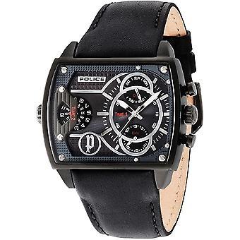 Police Herren Uhr Armbanduhr Leder Analog Scorpion PL.14698JSB/13A