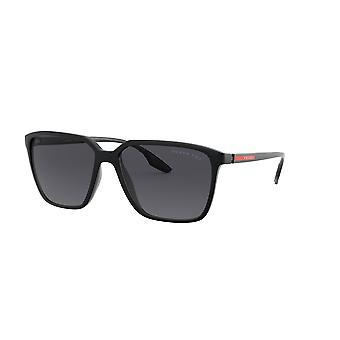 Prada Sport Linea Rossa SPS06V 1BO5Z1 Czarne Demishiny/Spolaryzowane szare okulary przeciwsłoneczne